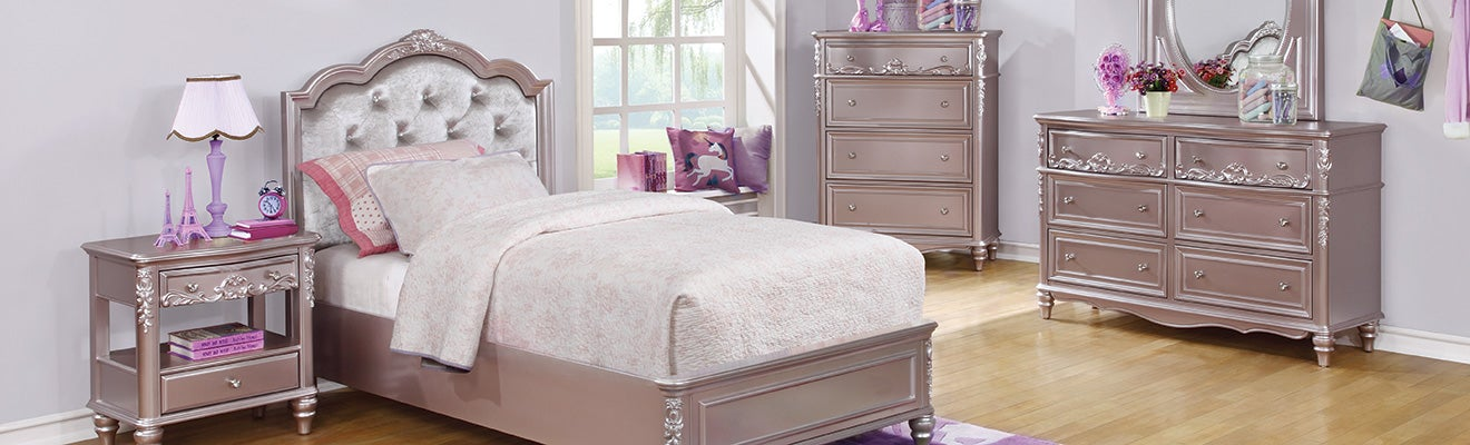Metallic Lilac Bedroom Collection