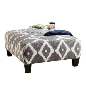 Viewpoint Gray Ottoman
