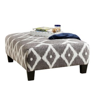 Albany Viewpoint Gray Ottoman