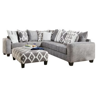 Viewpoint 2 Piece Modern Gray Sectional