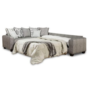 Viewpoint 2 Piece Gray Queen Sleeper Sectional