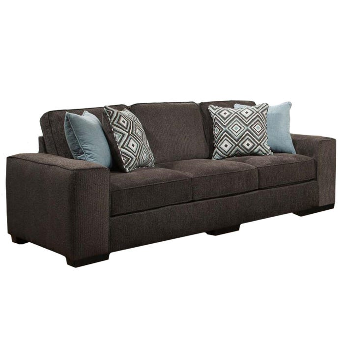 Albany Fifth Avenue Brown Chenille Sofa | Weekends Only Furniture