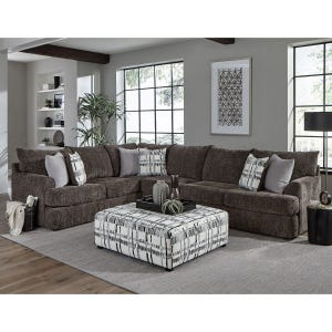 Archie Charcoal Chenille Sectional