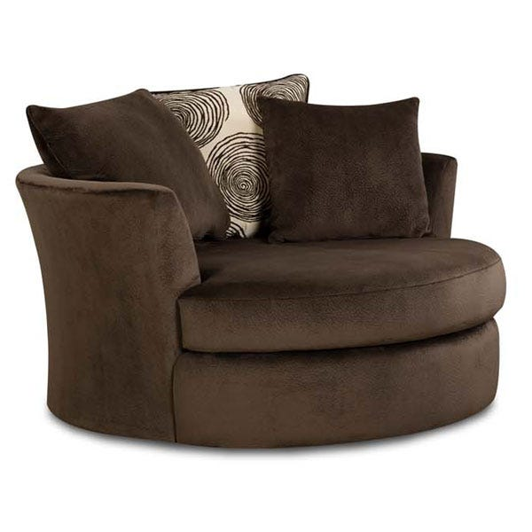 Fantastic Albany Groovy Chocolate Brown Padded Microfiber Swivel Chair Pdpeps Interior Chair Design Pdpepsorg