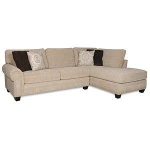 Albany Cashmere Beige Chenille 2 Piece Sectional