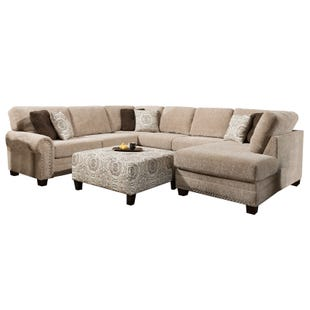Albany Cashmere Beige 3 Piece Sectional