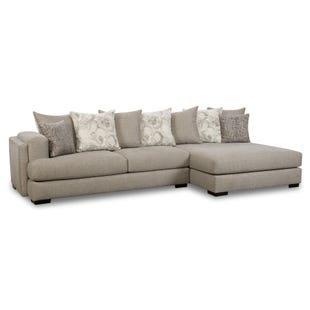 Garrett 2 Piece Gray Oversize Sofa Chaise