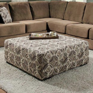 Albany Sparta Pattern Cocktail Ottoman