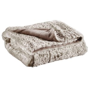 Ashley Rolle Tan Faux Fur Blanket