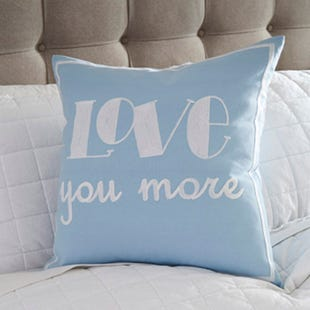 Ashley Love You More Blue Accent Pillow