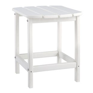 Sundown Treasure White Outdoor Rectangular End Table