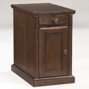 Ashey Laflorn Brown Chairside Table with Power Port