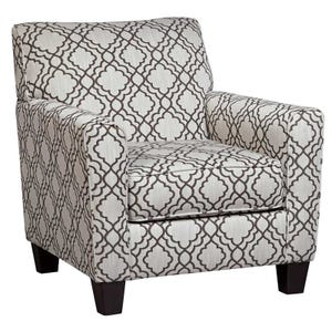Ashley Farough Cream Geometric  Accent Chair
