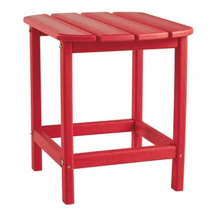 Sundown Treasure Red Outdoor Rectangular End Table