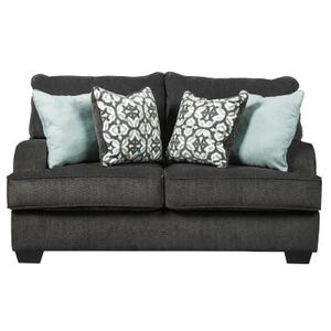Ashley Contessa Charcoal Chenille Loveseat