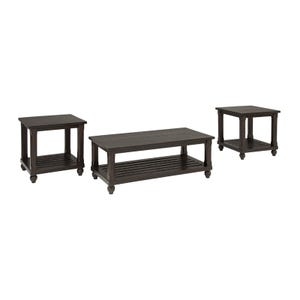 Ashley Mallacar Rustic Wood 3-Pack of Table