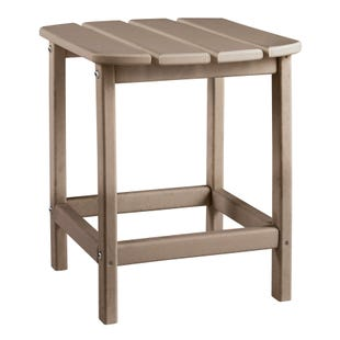 Sundown Treasure Beige Outdoor Rectangular End Table