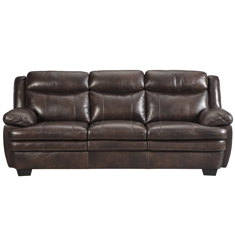 Leather sofa bed Dog Ashley Hannalore Brown Leather Sofa Weekends Only Sofas Sofas Beds Sleeper Sofas Love Seats Weekends Only