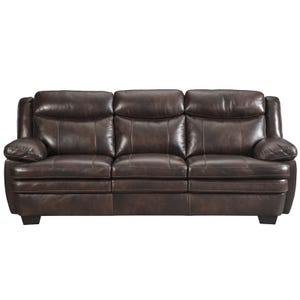 Ashley Hannalore Brown Leather Sofa