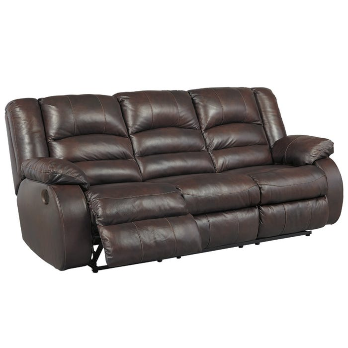 Wondrous Ashley Levelland Cafe Top Grain Leather Power Reclining Sofa Home Interior And Landscaping Elinuenasavecom
