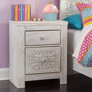 Ashley Willowton White Wash 2 Drawer Nightstand