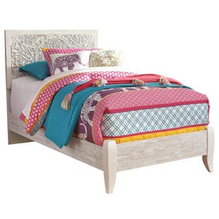 Ashley Willowton White Wash Twin Panel Bed