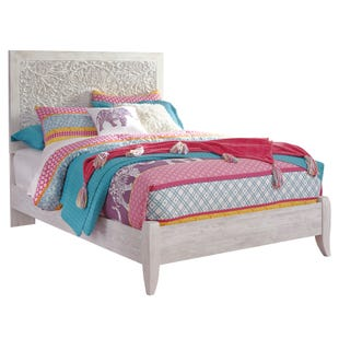 Ashley Willowton White Wash Full Panel Bed