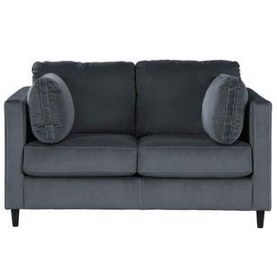 Velvet Modern Kennewick Loveseat Gray