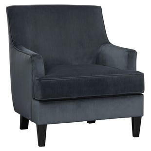 Velvet Modern Kennewick Accent Chair Gray