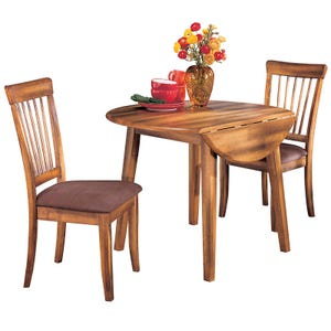 Ashley Berringer 3 Piece Rustic Dining Set in Hickory Finish