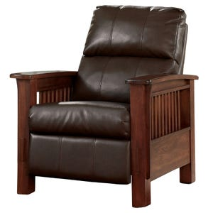 Ashley Santa Fe Brown Faux Leather Push Back Recliner