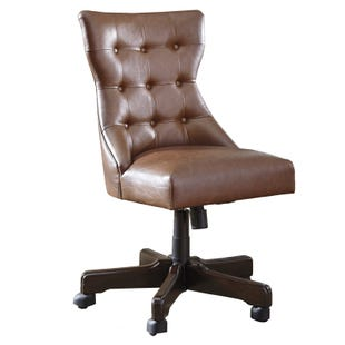 Ashley Brennon Tan Swivel Desk Chair