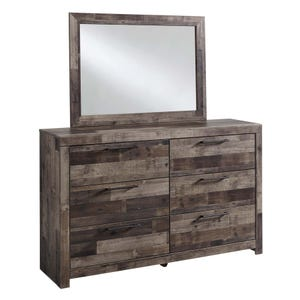 Ashley Derekson Butcher Block 2 Piece Dresser and Mirror