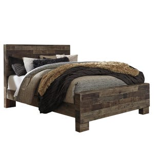 Derekson Butcher Block Queen Panel Bed