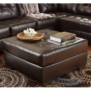 Ashley Alliston Chocolate Brown Oversized Ottoman