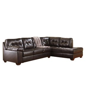 Ashley Alliston Chocolate Brown Sectional
