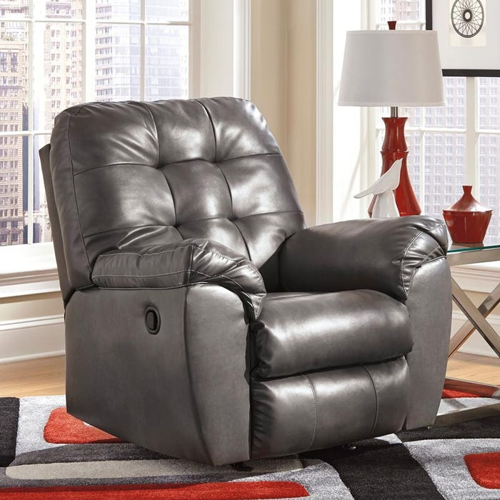 Admirable Ashley Alliston Gray Rocker Recliner Caraccident5 Cool Chair Designs And Ideas Caraccident5Info