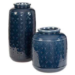 Azure Glazed Vase Set M/L