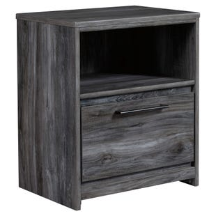 Ashley Baystorm Smokey Gray 1 Drawer Nightstand