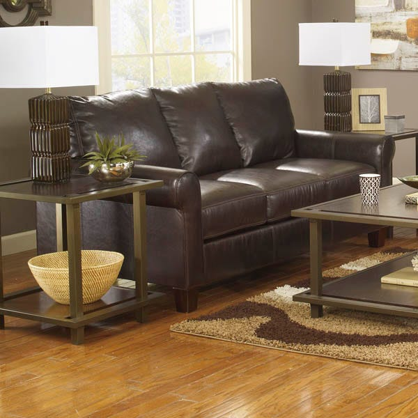 Ashley Nastas Brown Bonded Leather Sofa