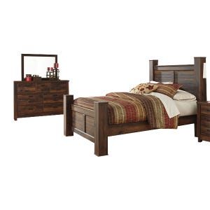 Ashley Quinden Rustic Queen Bedroom Set