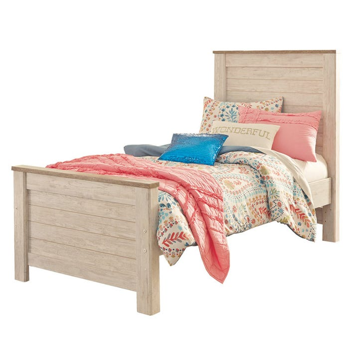 Ashley Willowton Twin Panel Bed Weekends Only Furniture
