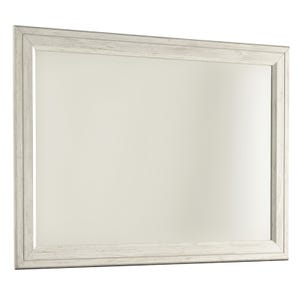 Willowton Two-Toned White Washed Mirror