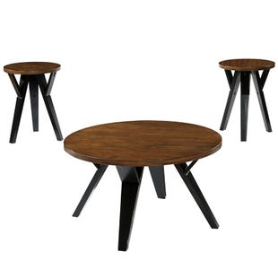 Ashley Ingel Mid-Century Modern Round 3 Table Set