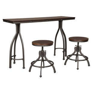 Ashley Odium Rustic Brown Counter Table and Stools