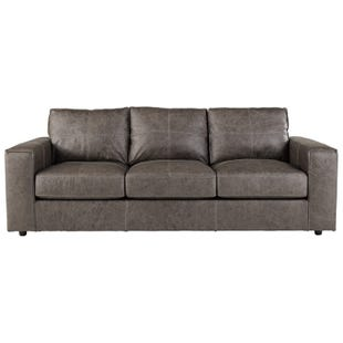 Ashley Trembolt Smoke Top Grain Leather Sofa
