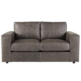 Ashley Trembolt Smoke Top Grain Leather Loveseat