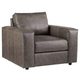 Ashley Trembolt Smoke Top Grain Leather Chair