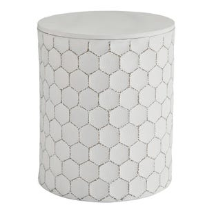 Honeycomb Metal Accent Stool