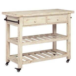 Ashley Marlijo White Kitchen Cart